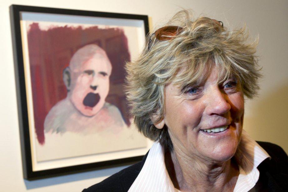 La porte-parole des Impatients, Clémence DesRochers, devant The... (Photo: Robert Skinner, La Presse)