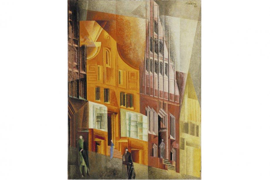 Lyonel Feininger a touché au cubisme, comme sur... (Illustration fournie par le Musée des beaux-arts de Montréal)