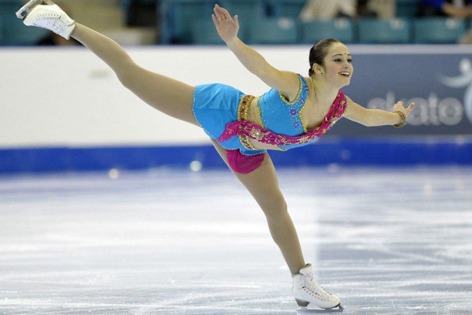 Vendredi lors des championnat canadien de patinage artistique,... (Photo: Mike Cassese, Reuters)