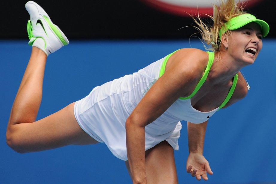 Maria Sharapova (notre photo) a défait Angelique Kerber... (Photo: WILLIAM WEST, AFP)