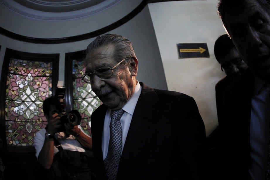 L'ancien dictateur guatémaltèque Efrain Rios Montt.... (Photo: JORGE DAN LOPEZ, Reuters)