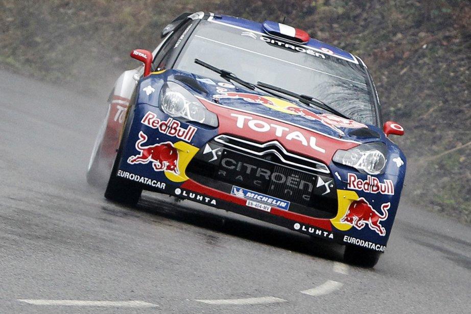 Le Français Sébastien Loeb (Citroën DS3) et son... (Photo Associated Press)
