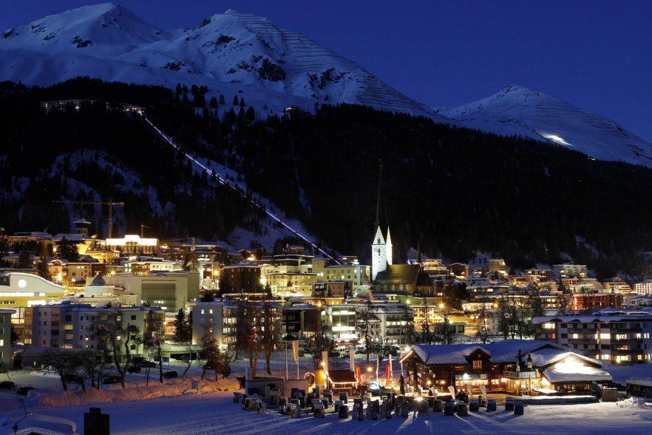 Davos... (Photo AFP)