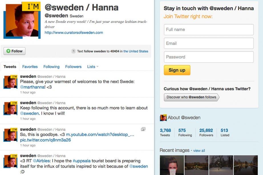 Capture d'écran du compte Twitter de la Suède.... (twitter.com)