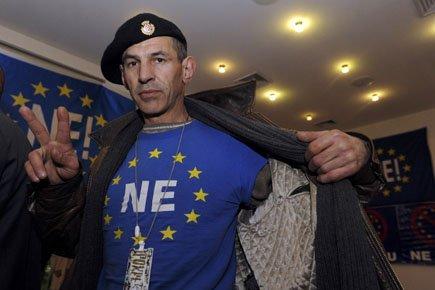 Les eurosceptiques dénoncent la «perte de la souveraineté»... (Photo: Reuters)