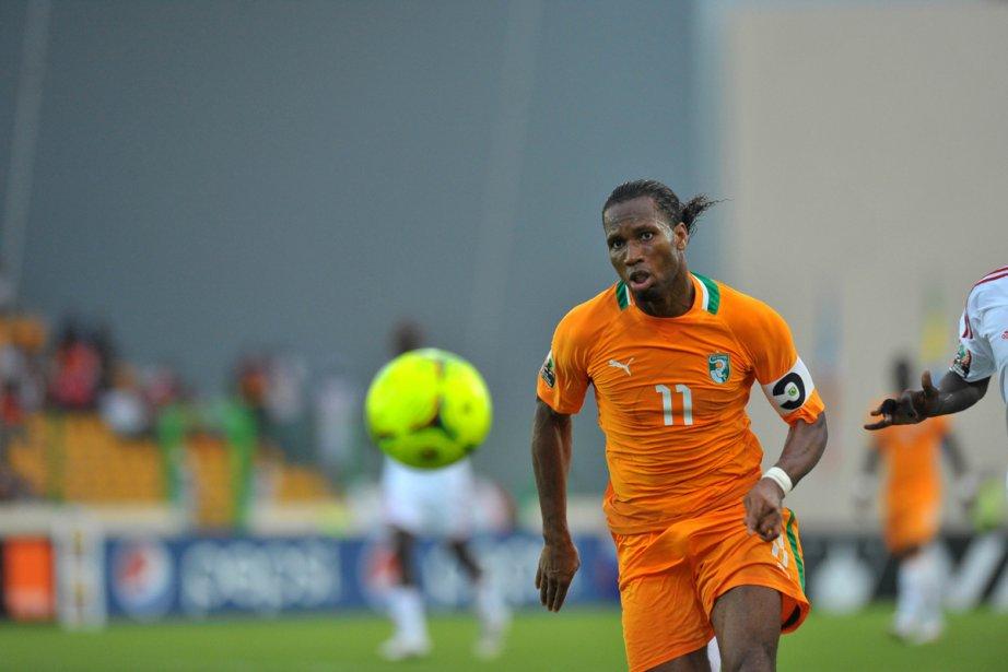 Didier Drogba a marqué le seul but de... (Photo: Alexander Joe, Agence France-Presse)