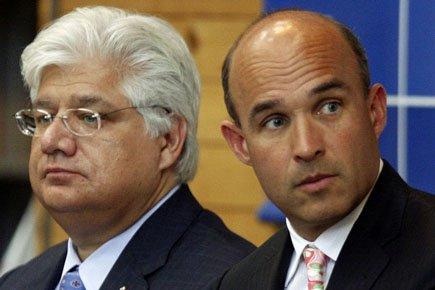 Jim Balsillie (à droite) et Mike Lazaridis, coprésidents... (Photo: Reuters)