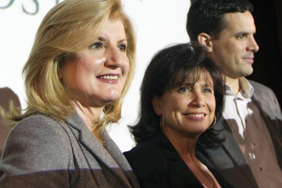Arianna Huffington et Anne Sinclair.... (Photo Reuters)