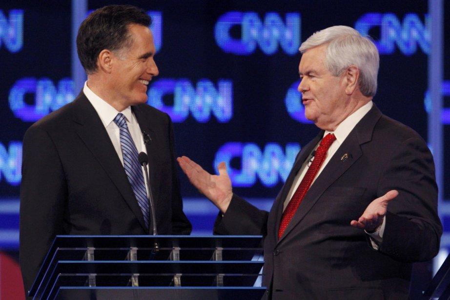 Mitt Romney (à gauche) et Newt Gingrich profitent... (Photo: Jason Reed, Reuters)