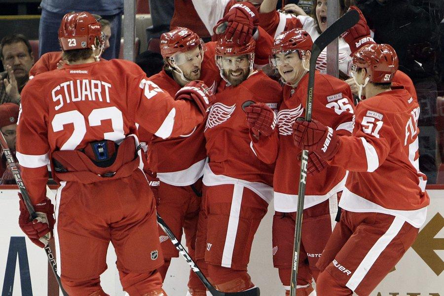 Les Red Wings de Detroit, qui seront à... (Photo: AP)