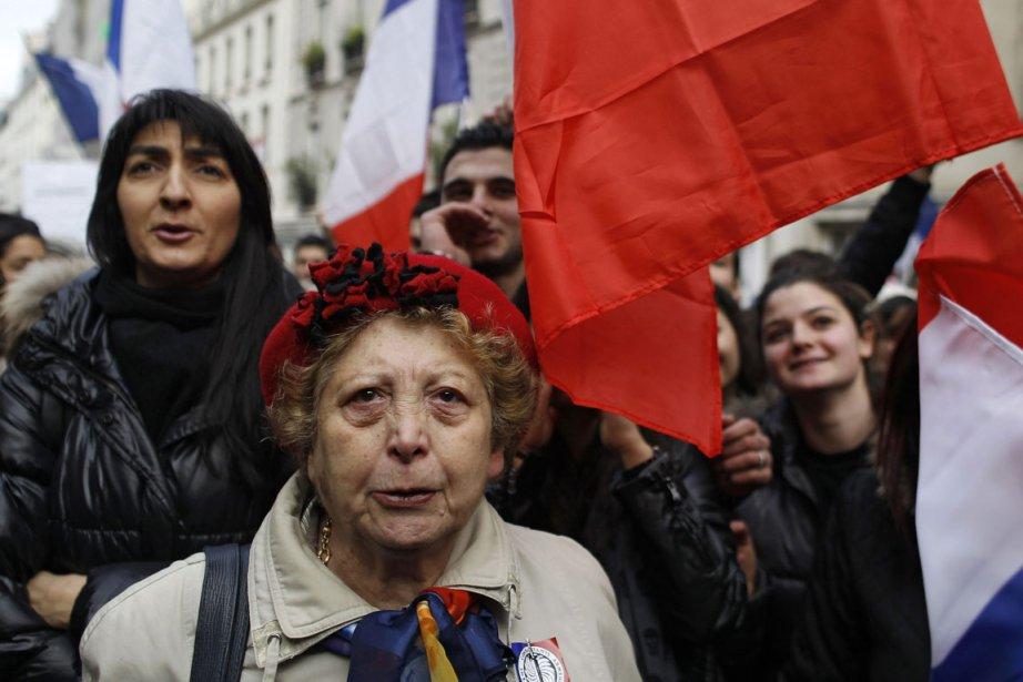 À Paris, des citoyens d'origine arménienne se sont... (AP)