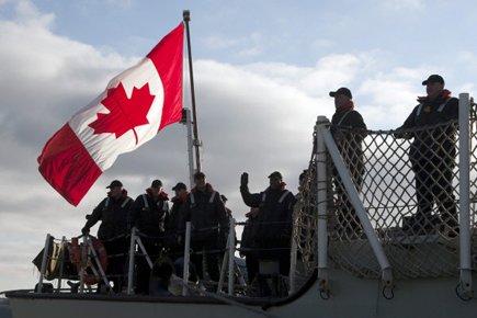 La dernière fois qu'un navire de guerre canadien... (Photo: PC)