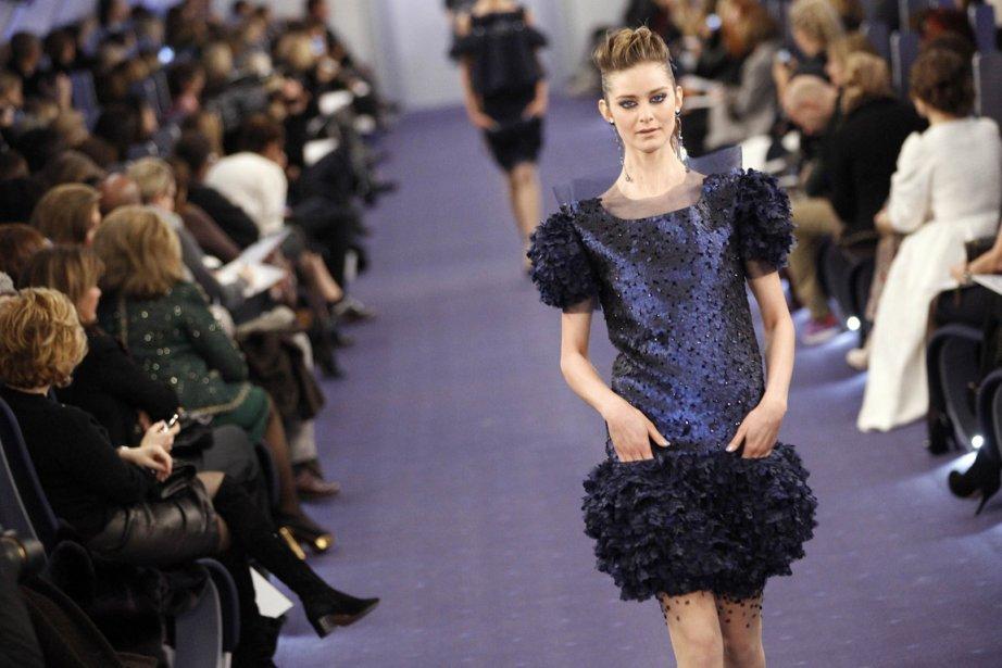 Une création de Karl Lagerfeld pour Chanel... (Photo: AFP)