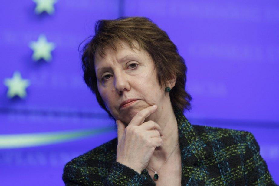 La chef de la diplomatie de l'Union européenne... (Photo AP)