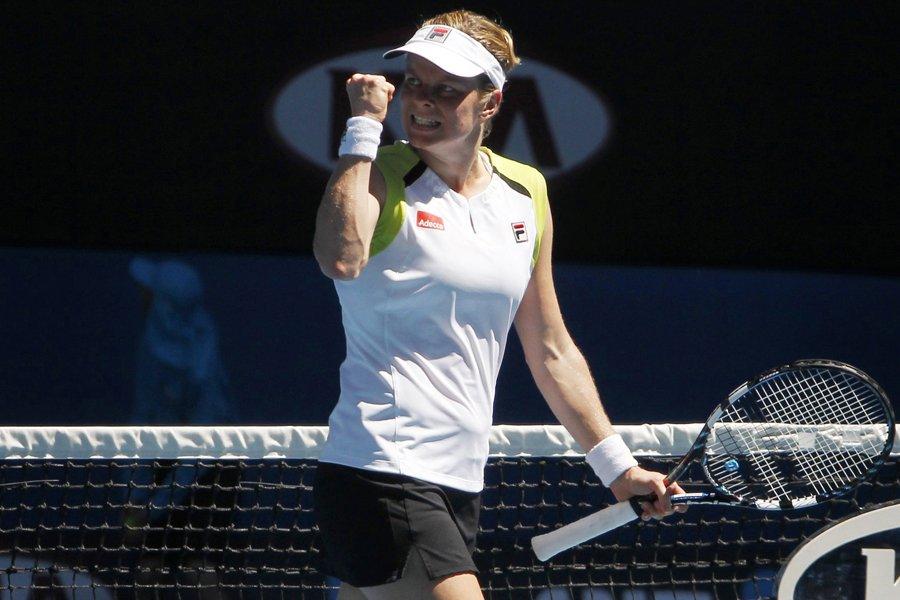 La championne en titre des Internationaux d'Australie Kim... (Photo: AFP)