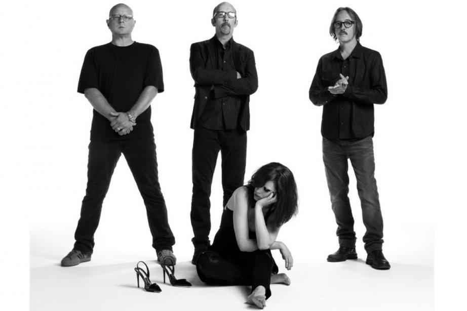 Les quatre membres du groupe Garbage.... (Photo Facebook)