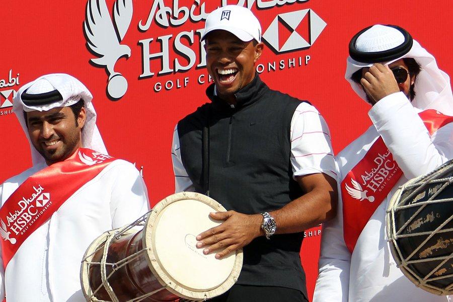 Tiger Woods participe au tournoi d'Abou Dhabi cette... (Photo: AFP)