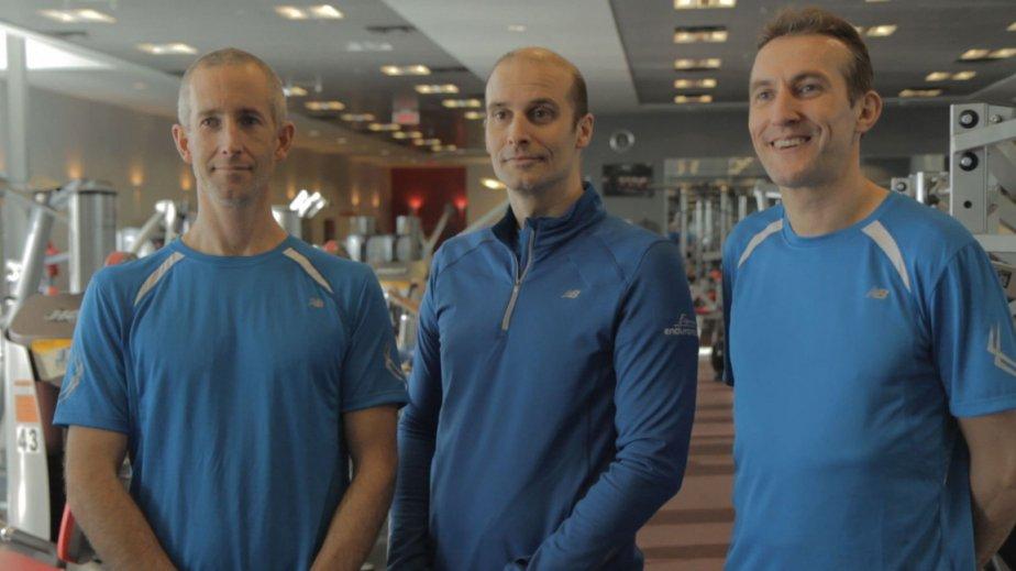 De gauche à droite: Daniel Lamontagne, Bruno St-Pierre...