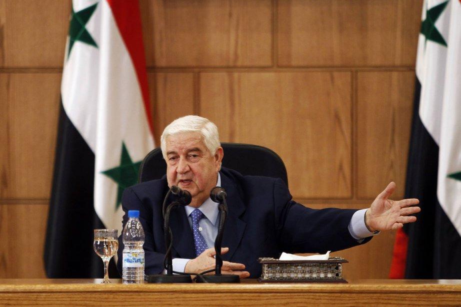 Le ministre des Affaires étrangères syrien Walid Mouallem.... (Photo Reuters)