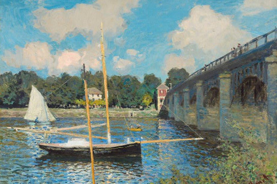 Le pont d'Argenteuil, Claude Monet, 1874.... (Image fournie par la National Gallery of Art)