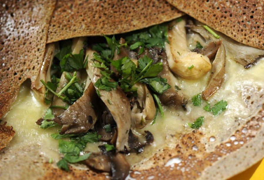 Crêpe salée, fromage et champignons. | 25 janvier 2012