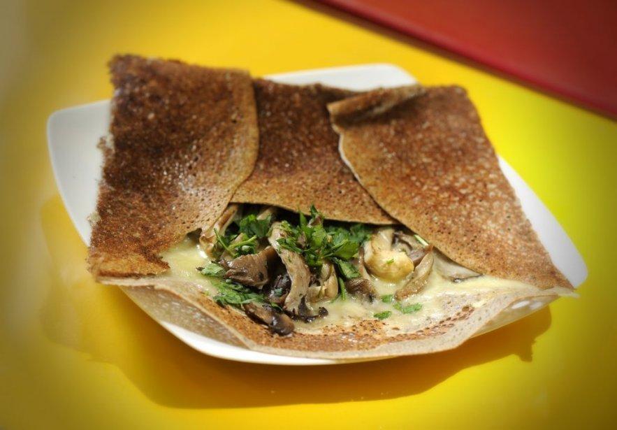 Crêpe salée fromage et champignons. | 25 janvier 2012