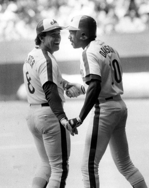 Gary Carter et Andre Dawson en 1984. (Robert Mailloux, La Presse)