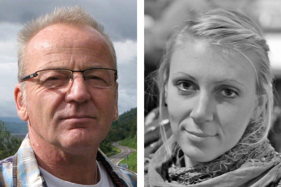 Le Danois Dane Poul Hagen Thisted et l'Américaine... (Photo: AP/Danish Refugee Council)
