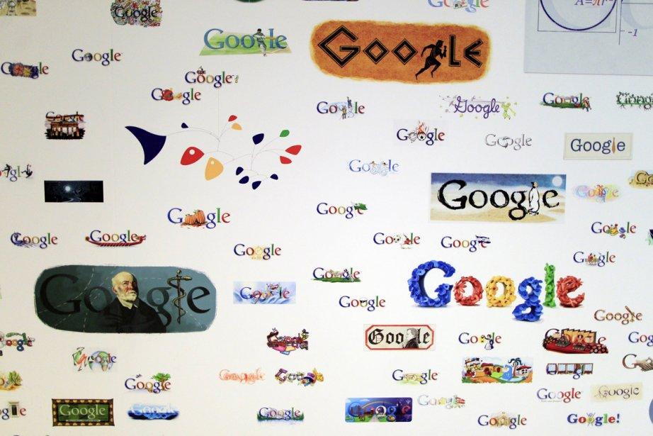 Des logos de Google sont illustrés sur un... (Photo: Reuters)