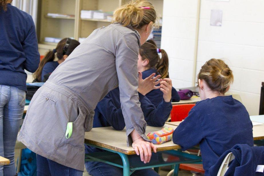 Des élèves à l'école Pierre-Dupuy.... (Photo: Alain Roberge, Archives La Presse)