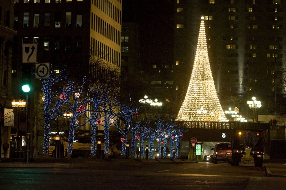 La Place Ville Marie pendant les fêtes de... (Photo archives La Presse)