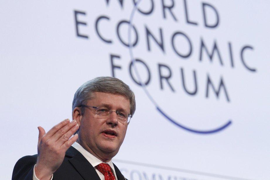 Dans son allocution principale au Forum économique mondial,... (Photo: Christian Hartmann, Reuters)