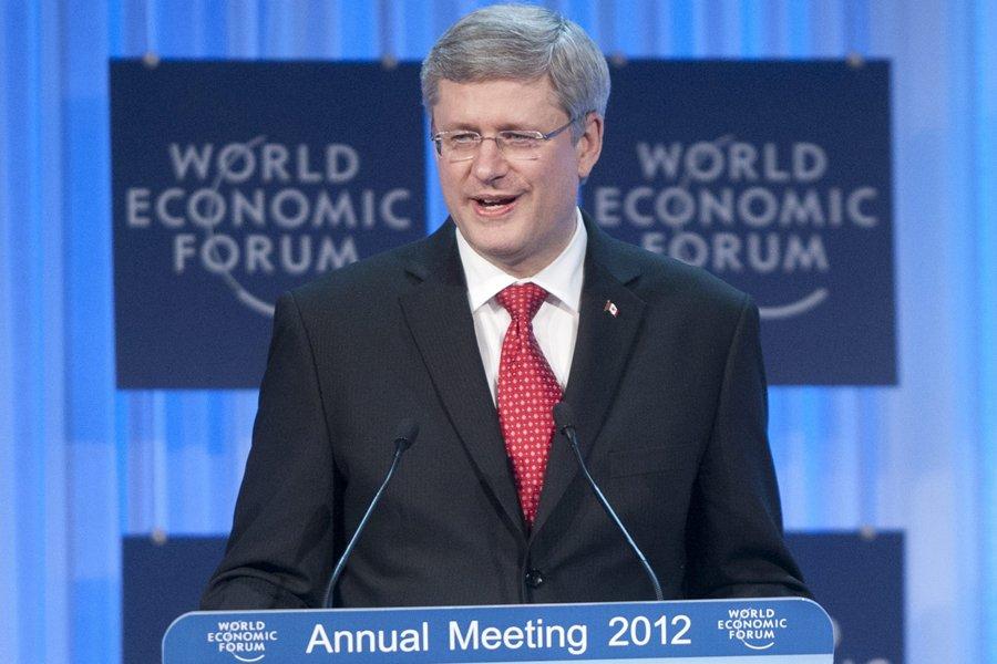 Le premier ministre Stephen Harper a prononcé un... (Photo: PC)