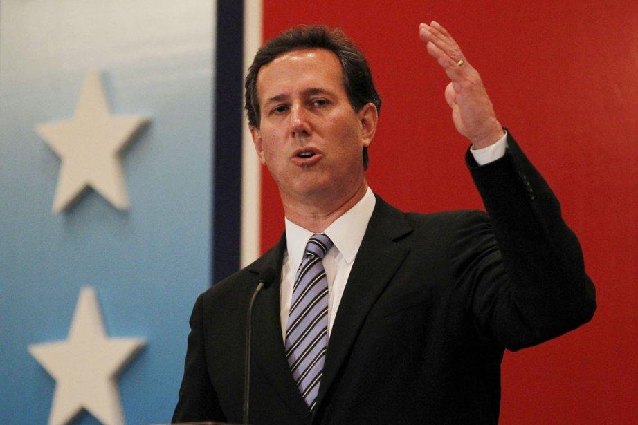 Rick Santorum a rejeté du revers de la... (Photo: Joe Skipper, Reuters)