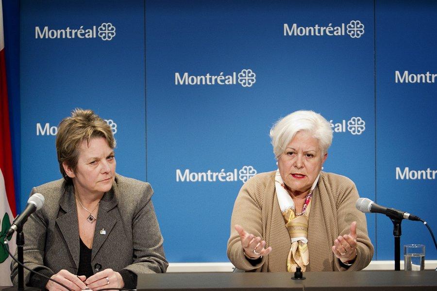La chef de Vision Montréal, Louise Harel, était... (Photo: Marco Campanozzi, La Presse)