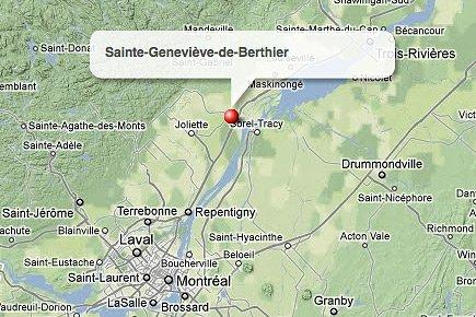 Sainte-Geneviève-de-Berthier, dans Lanaudière.... (maps.google.ca)