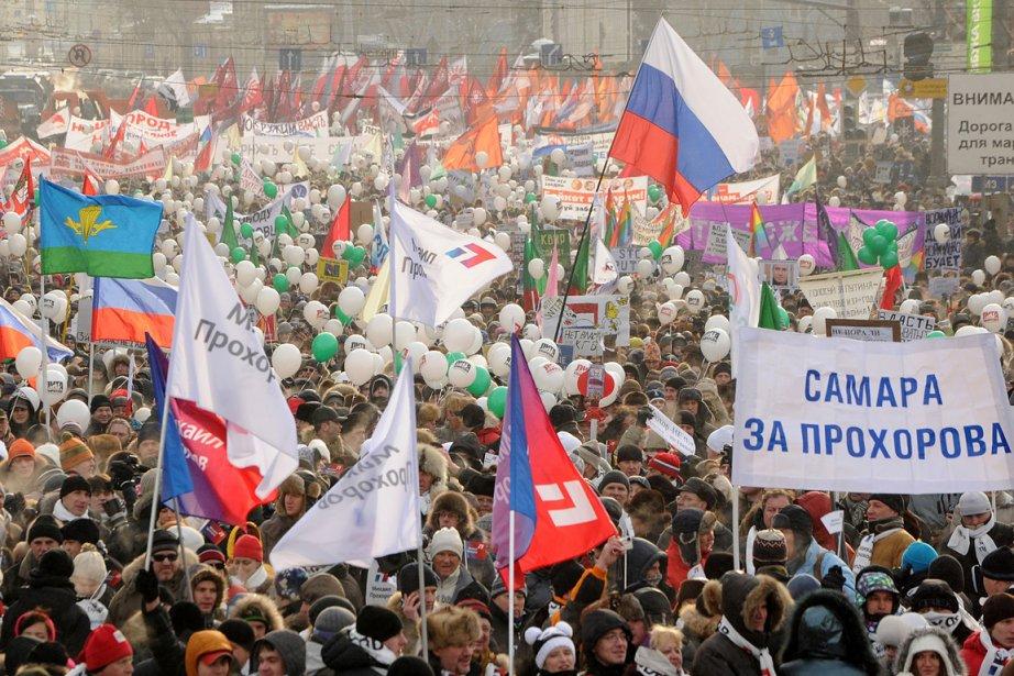 Le nombre d'opposants qui ont manifesté contre Poutine... (Photo: AFP)