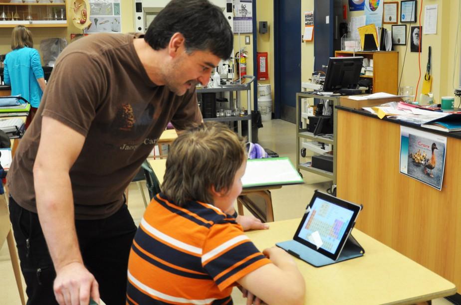L'iPad est déjà présent dans plusieurs classes du... (Collaboration spéciale Marc Larouche)