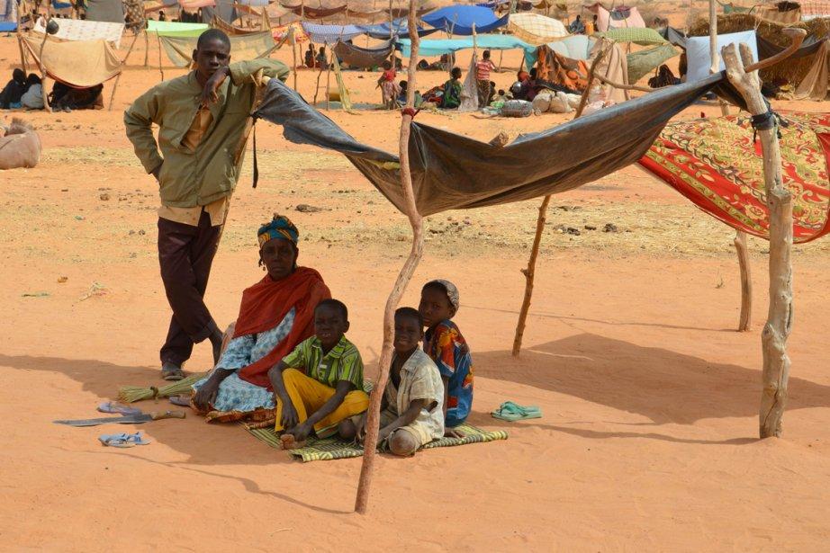 Des réfugiés maliens au camp deChinegodar.... (Photo AFP)