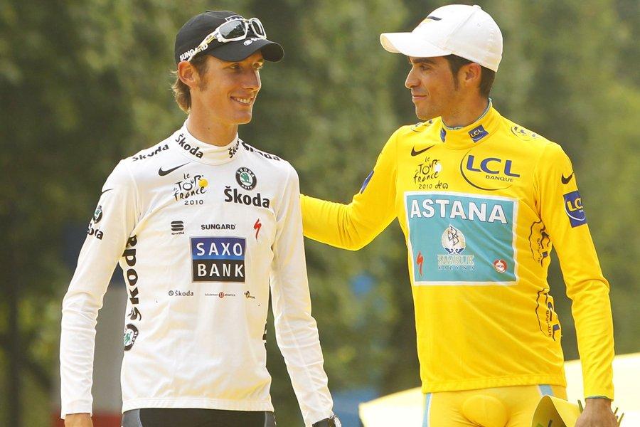 Alberto Contador (à droite) a été déchu de... (Photo: AFP)