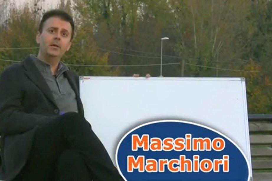 Selon M. Marchiori, qui sur son site (www.volunia.com)... (Saisie d'écran de la vidéo de Massimo Marchiori)