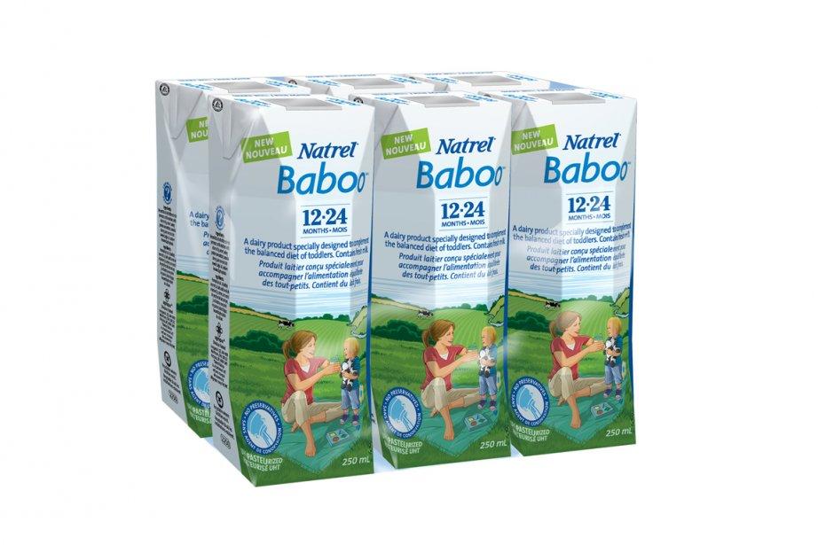 Le nouveau lait pour bambins lancé par Natrel.... (Photo: fournie par l'entreprise)