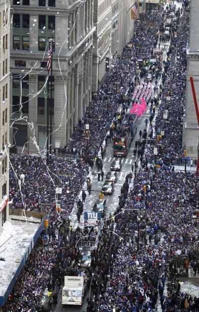 Le défilé de la victoire des Giants de New York,... | 2012-02-07 00:00:00.000