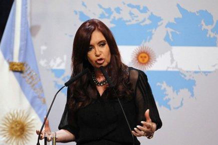 La présidente de l'Argentine Cristina Kirchner a livré... (Photo: Reuters)