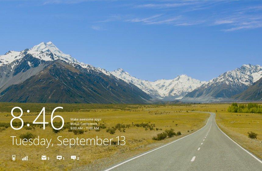 L'écran de verrouillage de Windows 8.... (Image: Microsoft)