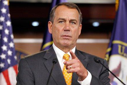 Le président de la Chambre des représentants, John... (Photo: AP)