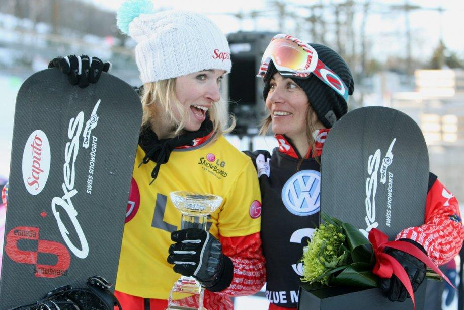 Dominique Maltais et Maëlle Ricker, deux membres de... (Photo : Dave Chidley, La Presse Canadienne)