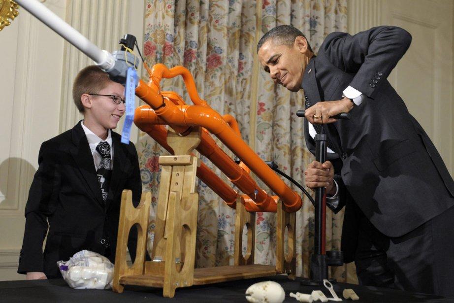 Pendant que les républicains s'étrillent entre eux, à... (Photo diffusée par la Maison-Blanche)