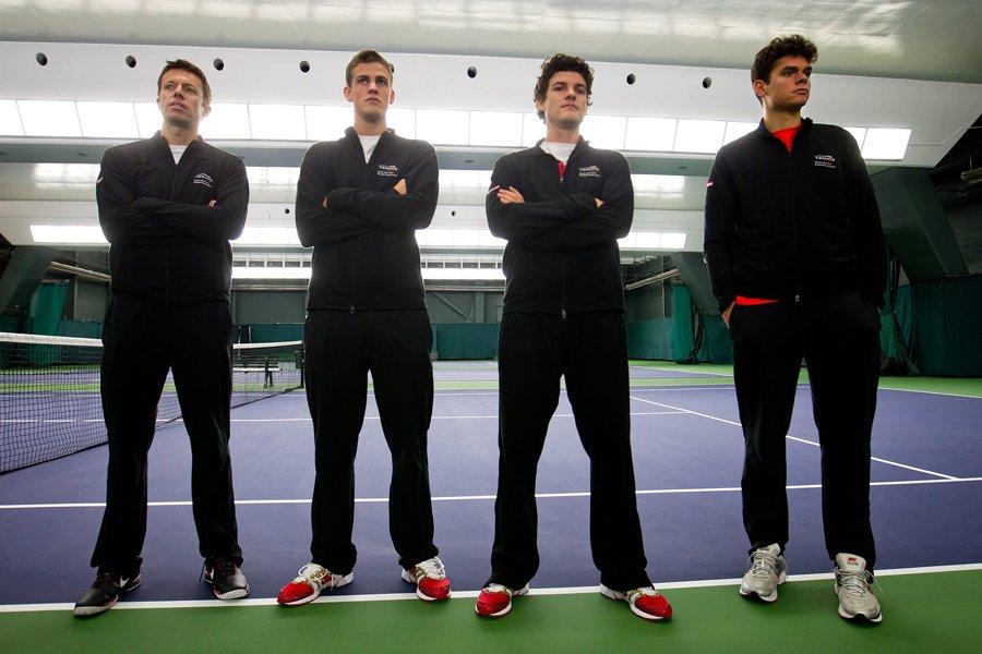 L'équipe canadienne de Coupe Davis qui affrontera la... (Photo: PC)