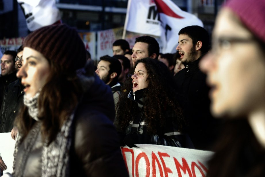 Les Grecs ne digèrent pas les mesures d'austérité...... (Photo AFP)